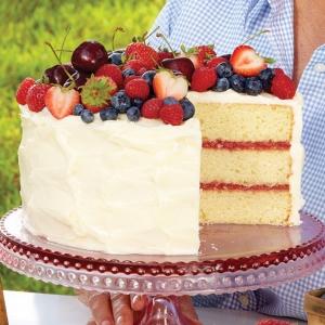 cherries and berries cake