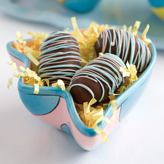 chocolate-covered peanut butter eggs for Easter