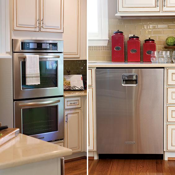 kitchen stove and dishwasher