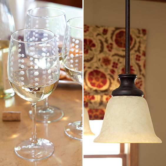 glassware and lighting fixtures