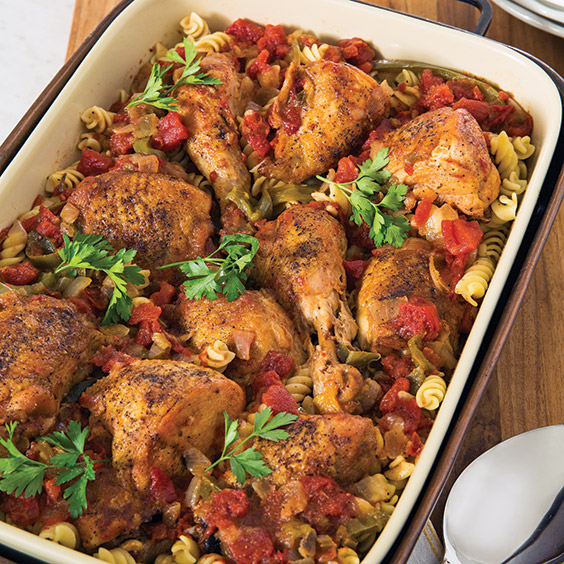 chicken cacciatore with pasta