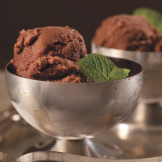 chocolate-mint sorbet