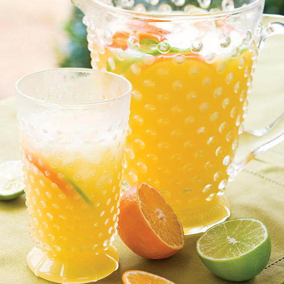 fizzy orange peach drink