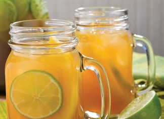 mango-lime tea