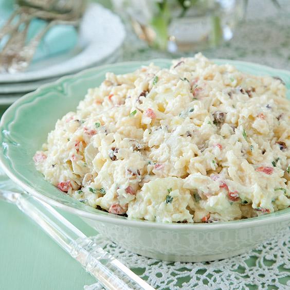 potato salad with pimiento cheese