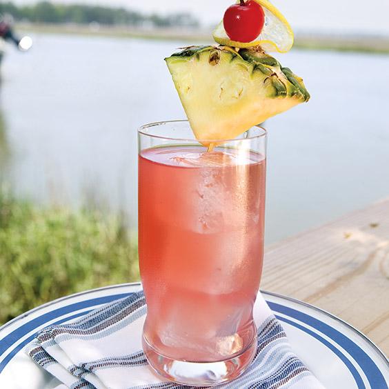 pineapple-cranberry-lemon rum punch