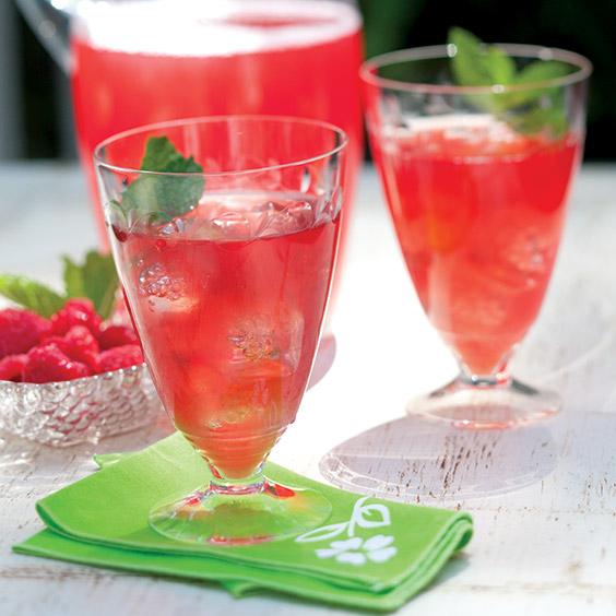 raspberry-rhubarb cooler