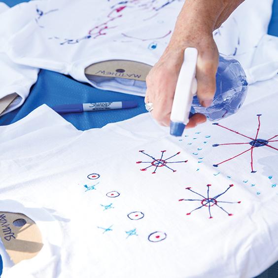 Step 4 tshirt craft