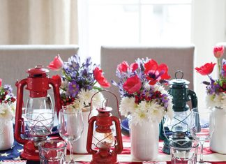 patriotic holiday tablesetting
