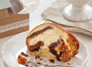pound cake with a chocolate swirl