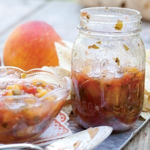 peach-tomato salsa