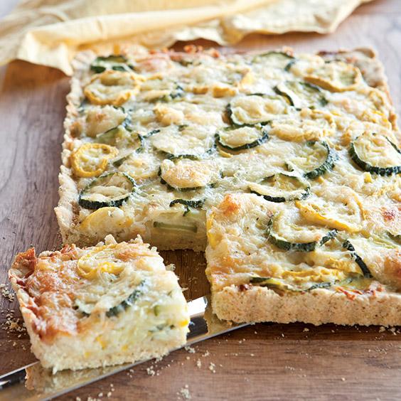 zucchini and squash tart