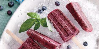 blueberry-basil yogurt pops