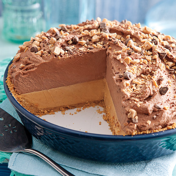 fluffy peanut butter chocolate pie