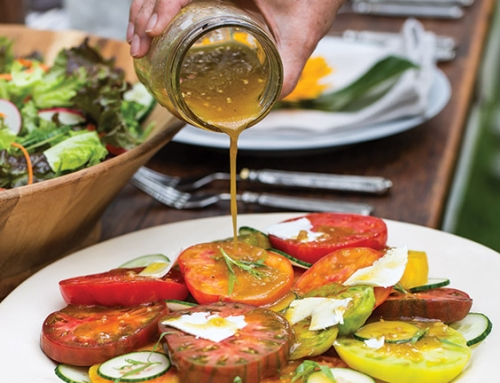 Heirloom Tomato Salad with Shallot Vinaigrette