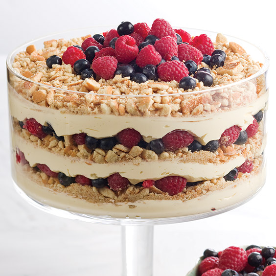 Berry Brownie Trifle Recipe — Dishmaps