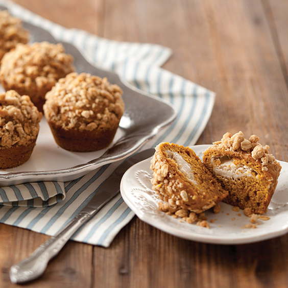 Maple Cream Cheese Pumpkin Muffins