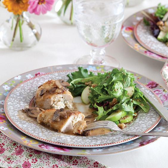 artichoke and fontina stuffed chicken breasts