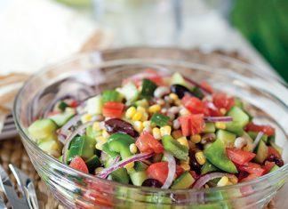black-eyed pea greek salad