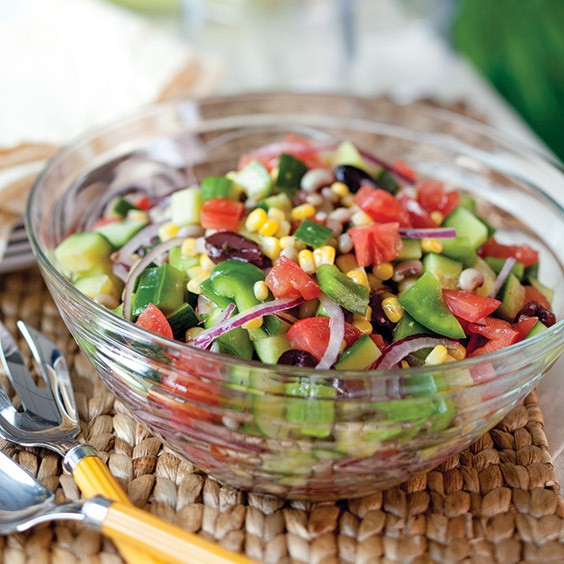 black-eyed pea greek salad