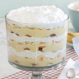 banana pudding with cooked custard