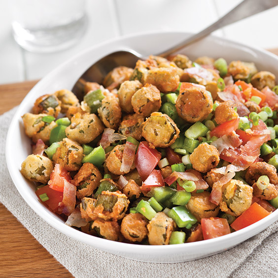 fried okra salad