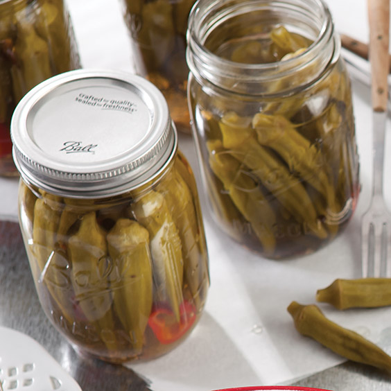 Pickled Okra With Jalapenos Recipe — Dishmaps