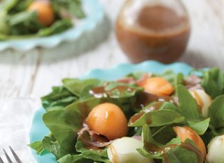 arugula, prosciutto, and fig salad