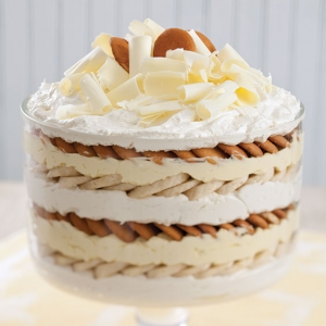 white chocolate banana pudding