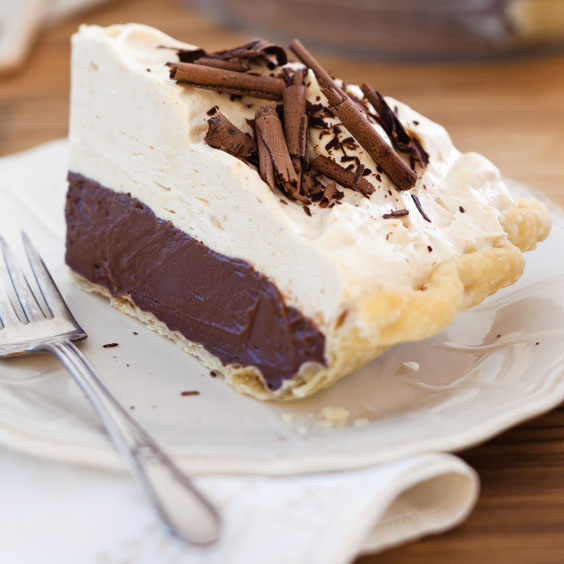 Chocolate Cream Pie with Peanut Butter Topping