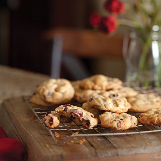 Cranberry-White Chocolate-Macadamia Nut Cookies