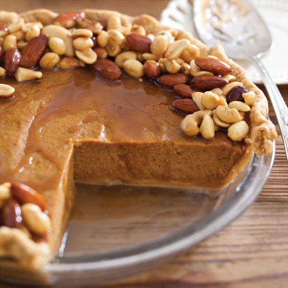 Salted Caramel Nut Pumpkin Pie