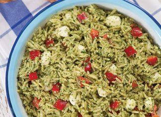 arugula, walnut, and orzo pasta salad