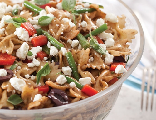 Bow Tie Pasta Salad with Goat Cheese