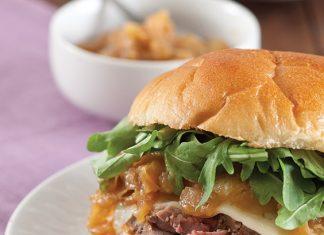 caramelized onion beef tenderloin sandwiches