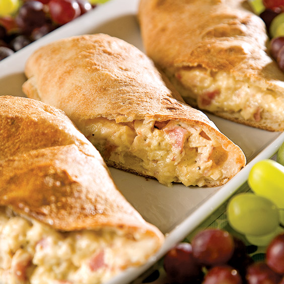 chicken, cheese, and ham pockets