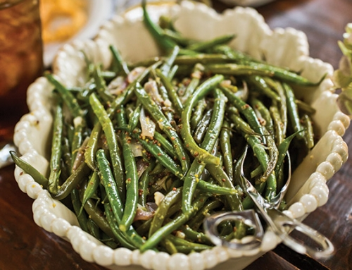 Green Beans with Shallots and Vinegar