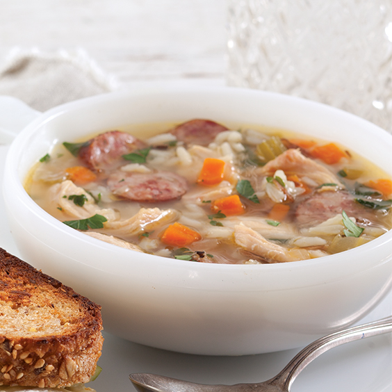 Paula Deen Chicken Noodle Soup: Chicken, Rice, And Sausage Soup