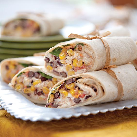 chili-lime southwest wraps