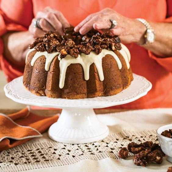 Sweet Potato Bundt Cake with Maple Glaze - Paula Deen