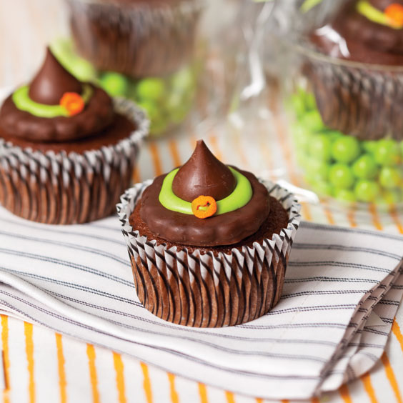 Food Network Witch Hat Cupcakes