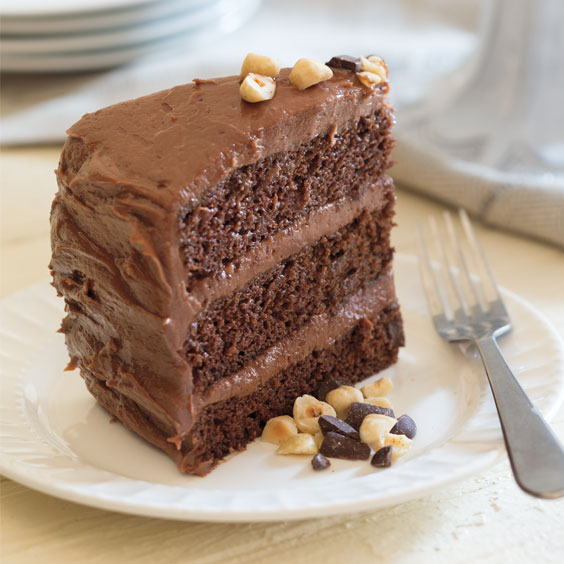 Chocolate Cake With Coffee Mousse Filling