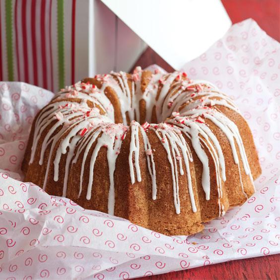 Peppermint Mocha Pound Cake