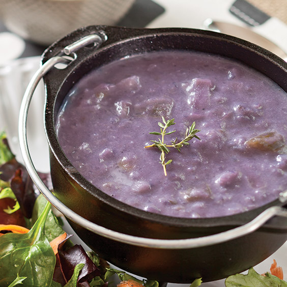 purple potato soup