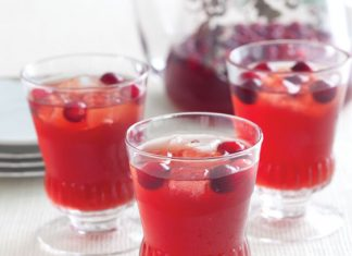Cranberry-Bourbon Sippers