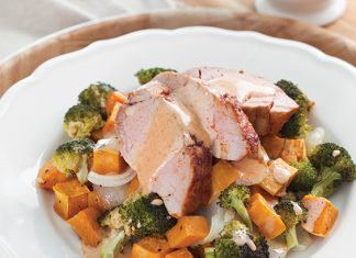 Sweet Potato Salad with Pork