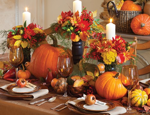Rich and Radiant Autumn Tablescape