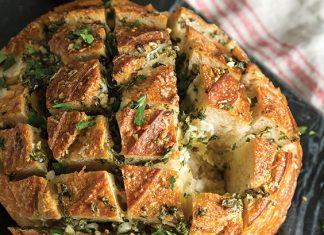 Cheesy Garlic-Herb Pull-Apart Bread