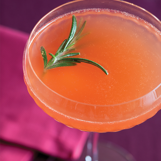 Rosemary-Blood Orange Spritzer