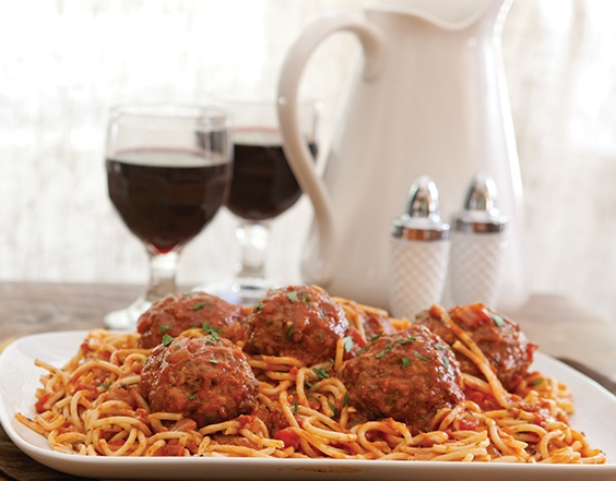 Spaghetti and Colossal Meatballs
